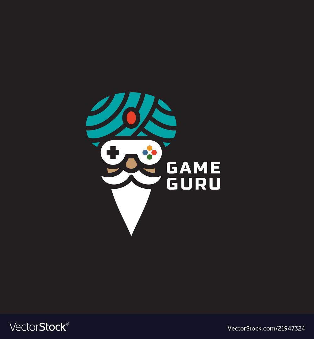 Game guru logo vector image