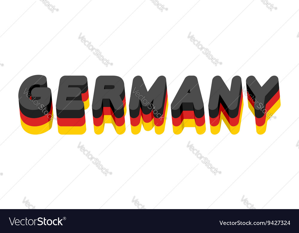 Germany lettering Text of German flag Emblem of