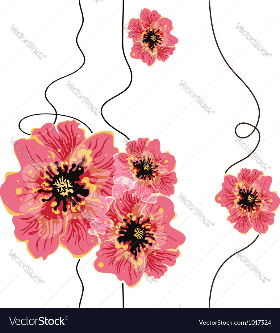 Seamless floral background design