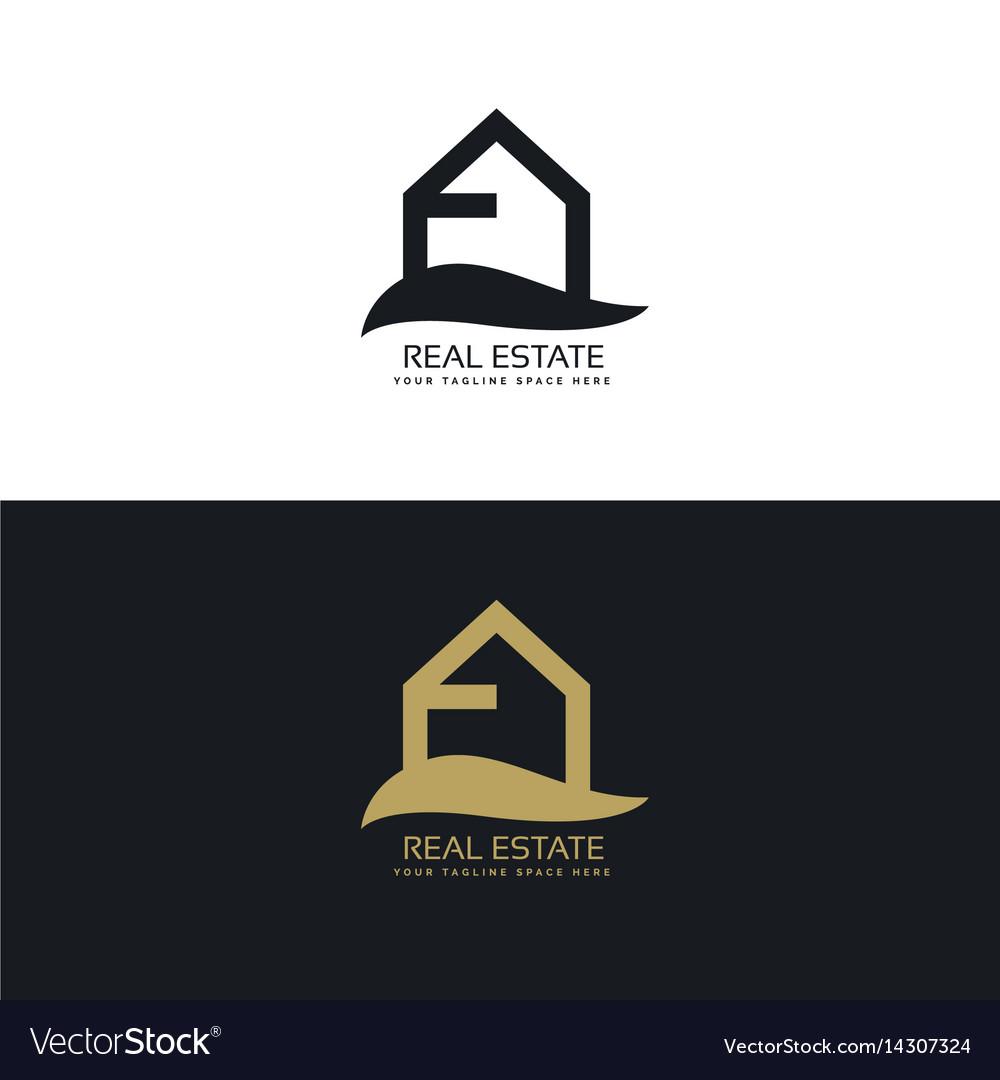 Simple real estate logo design concept vector image