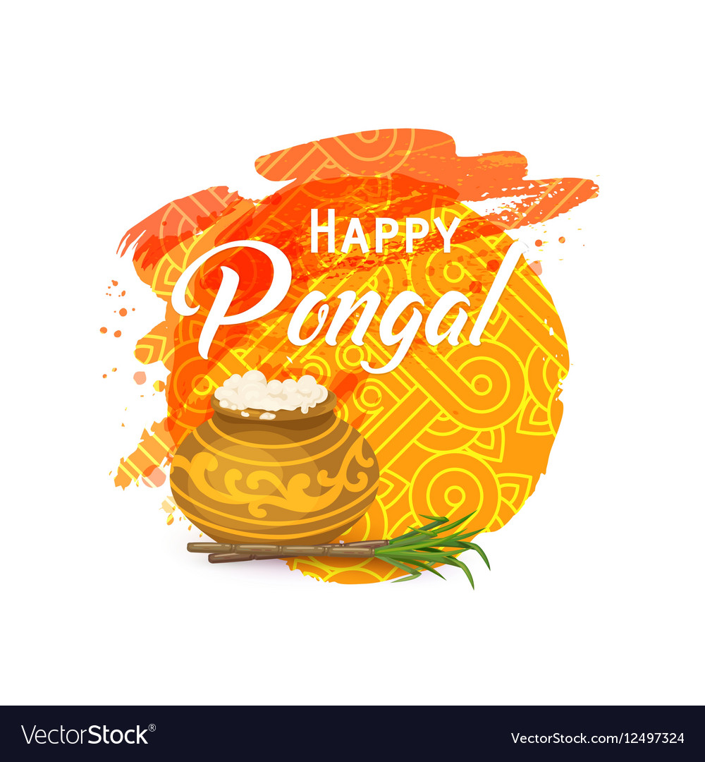 Thai Pongal Greeting Card Royalty Free Vector Image