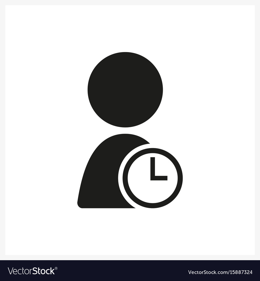 User timer icon in simple black design