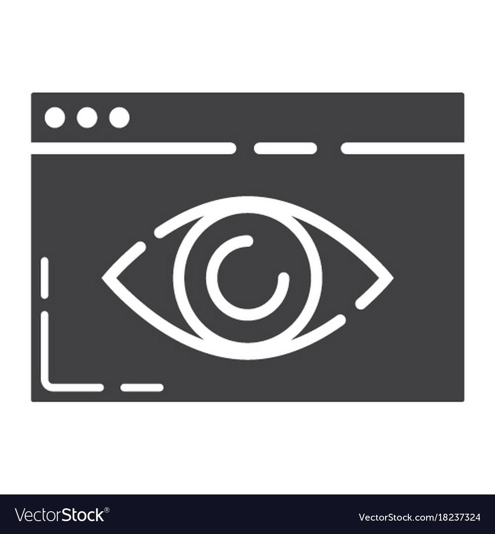 Web visibility glyph icon seo and development