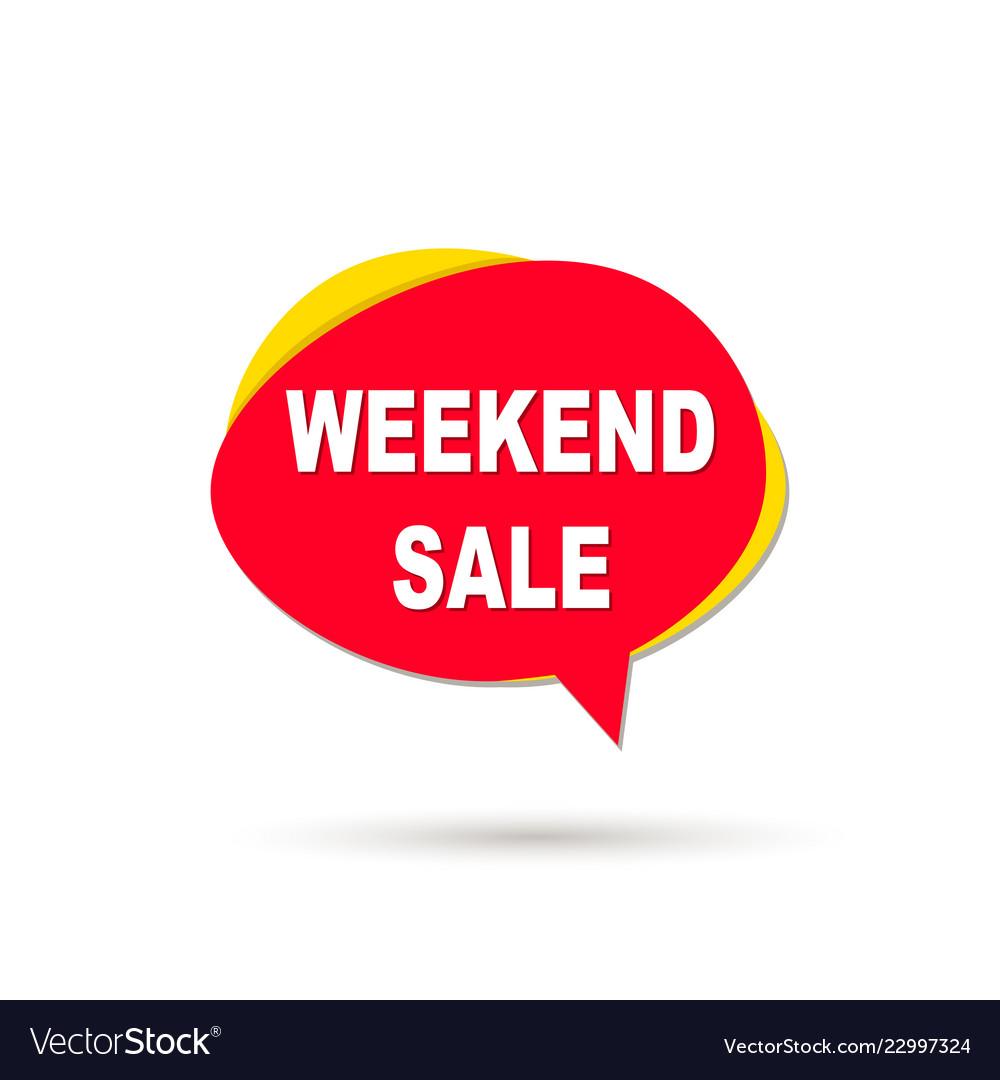 Weekend sale speech bubble icon