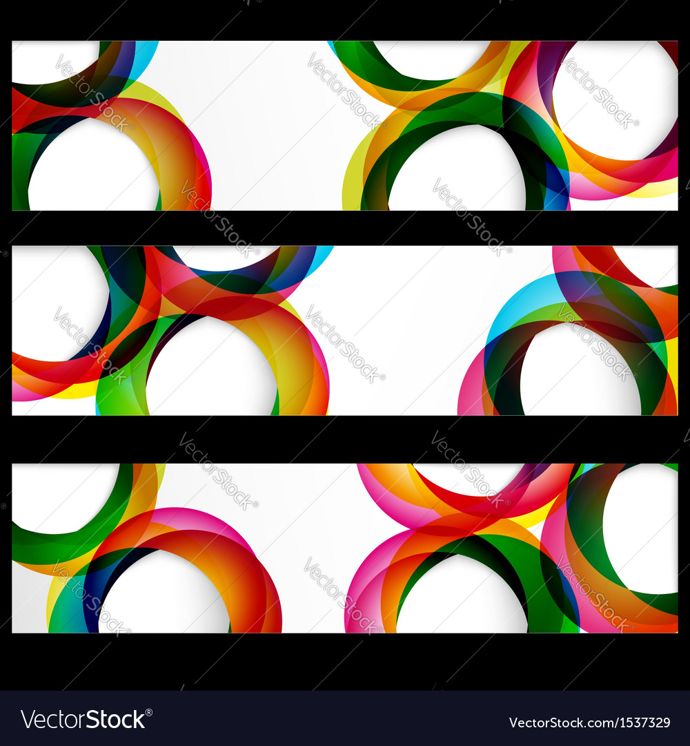 Abstract circles banner vector image
