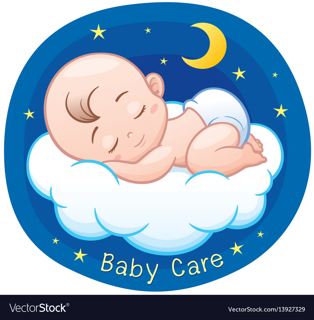 baby sleeping royalty free vector image vectorstock rh vectorstock com baby vector freepik baby vector free