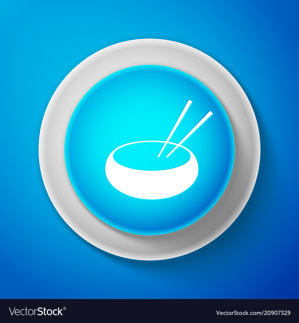 Bowl with asian food and pair of chopsticks icon