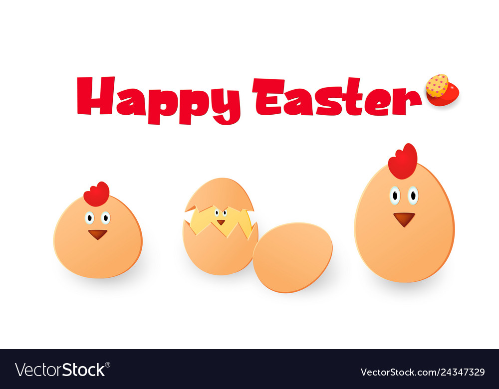 Happy easter easter chickens eggs and roosters