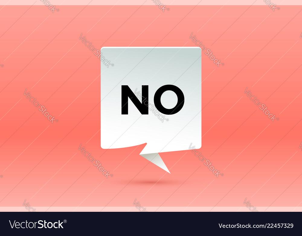 No paper bubble cloud talk and message no