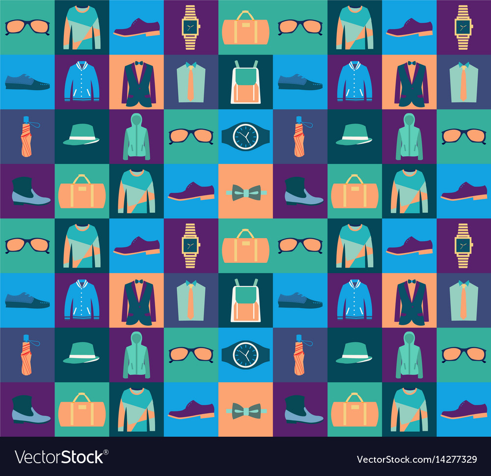 74ebd1725ee61 Pattern of fashionable mens wear background Vector Image