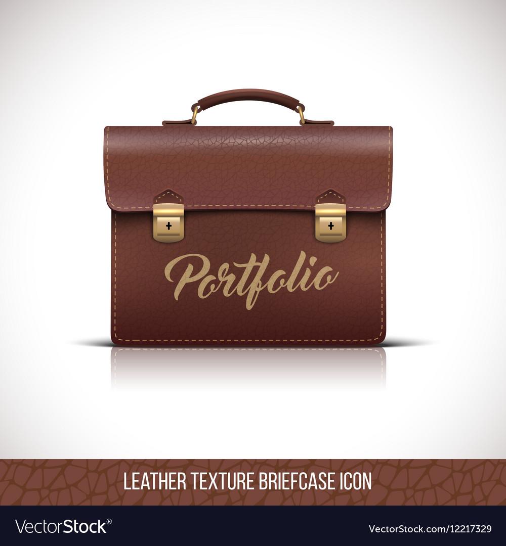 Portfolio brown color icon