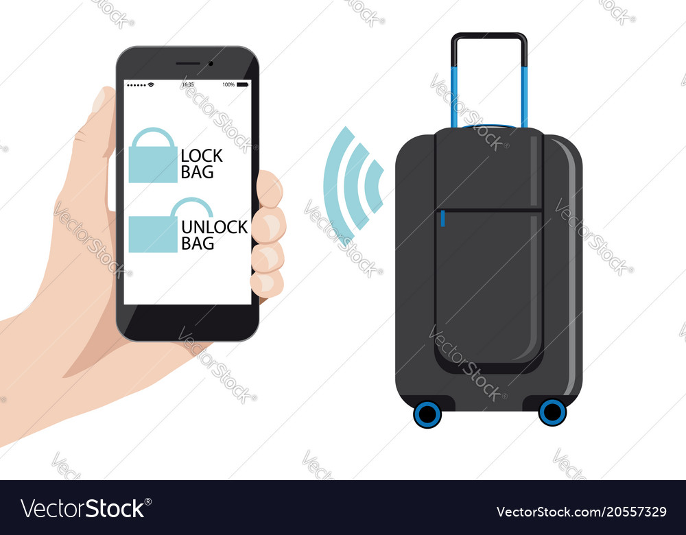 Smart baggage with wireless control
