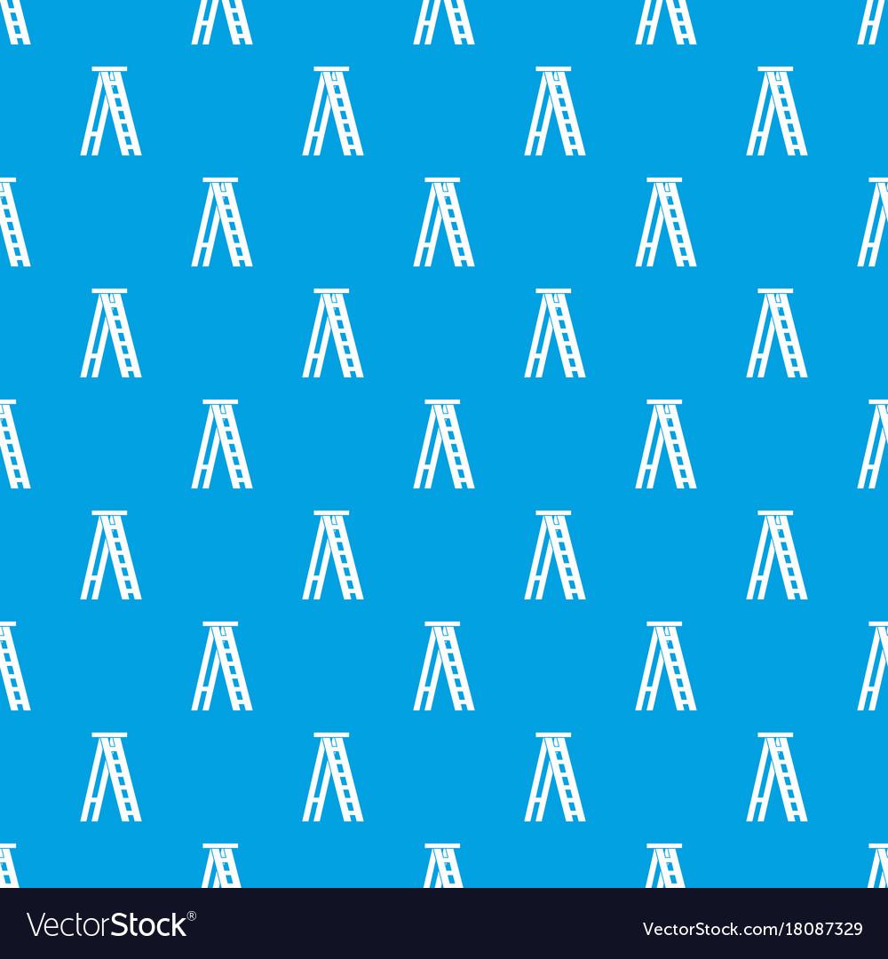 Stepladder pattern seamless blue