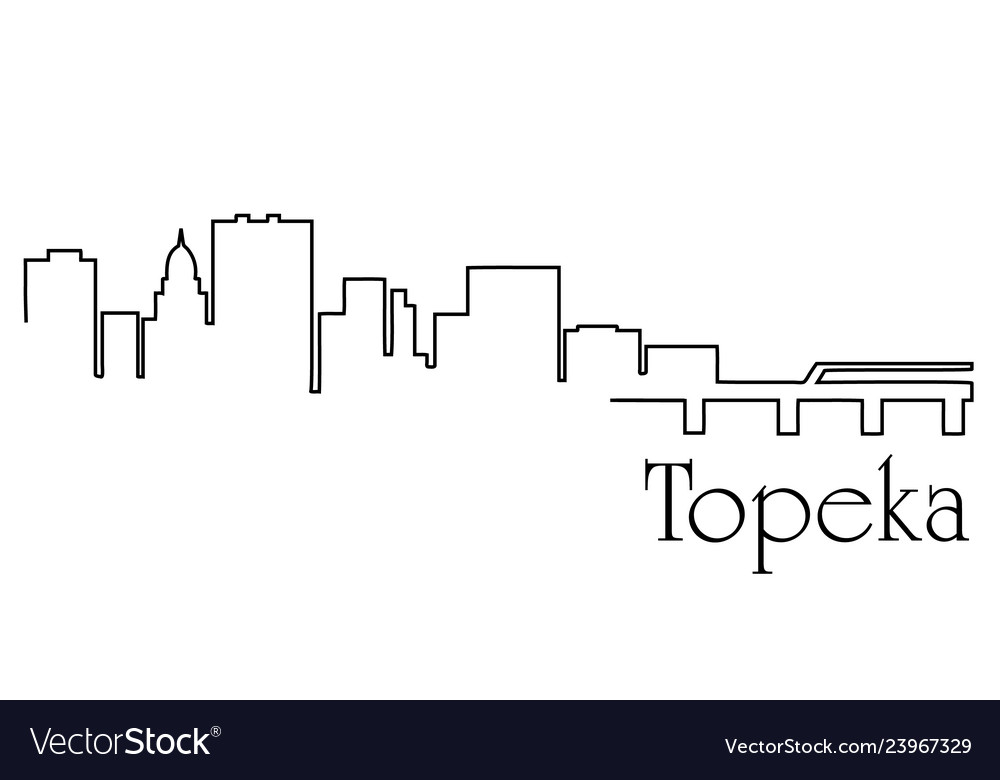 Topeka city one line drawing