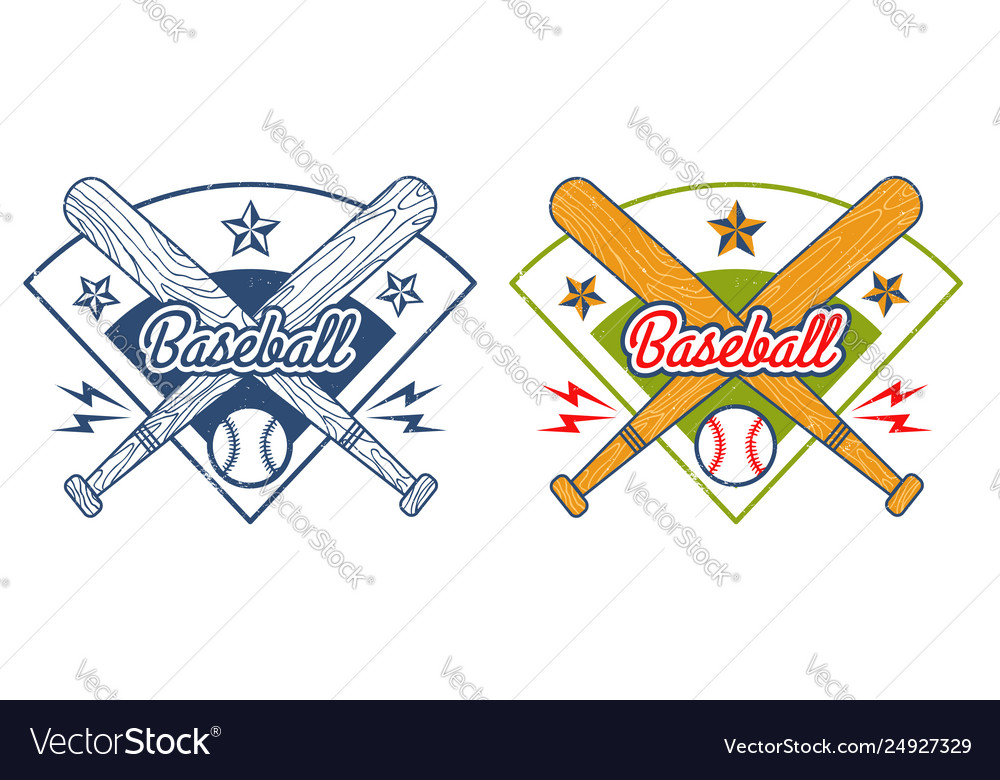 Vintage emblem for baseball
