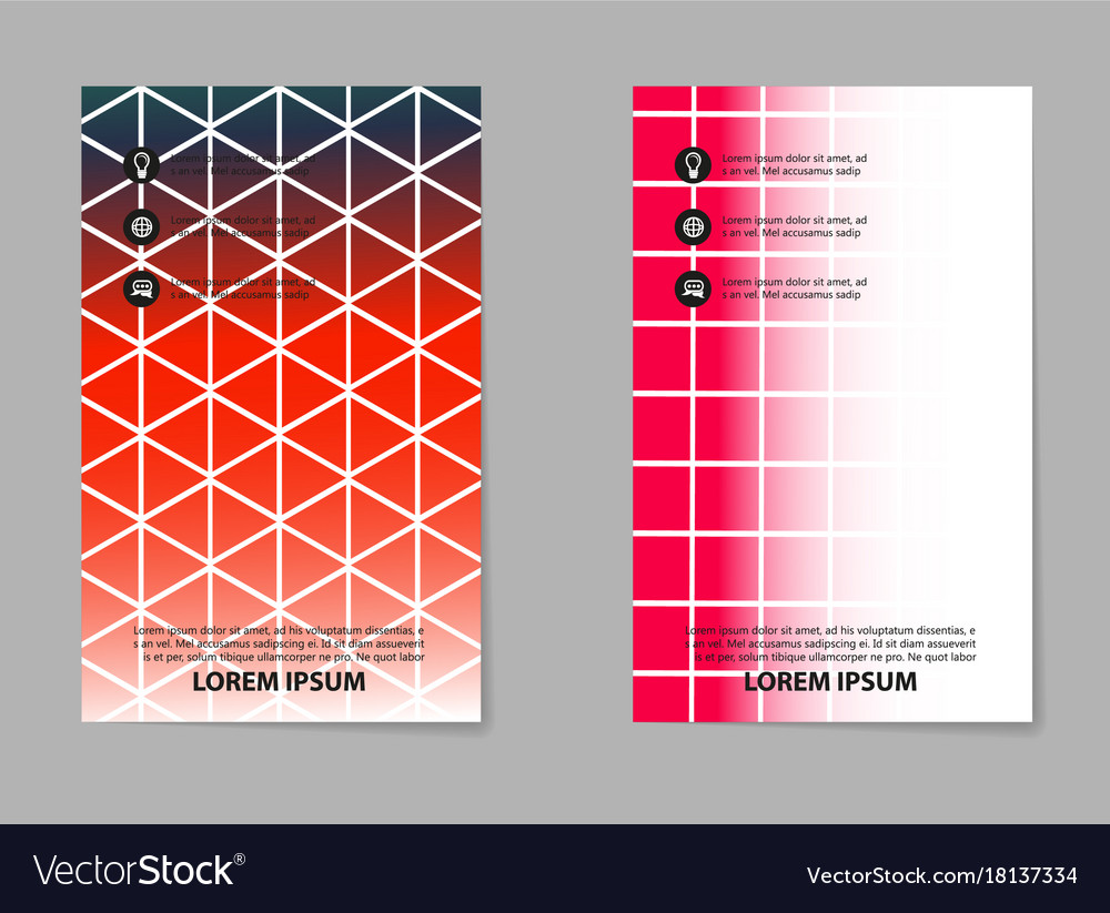 Abstract composition business card set box block vector image reheart Image collections