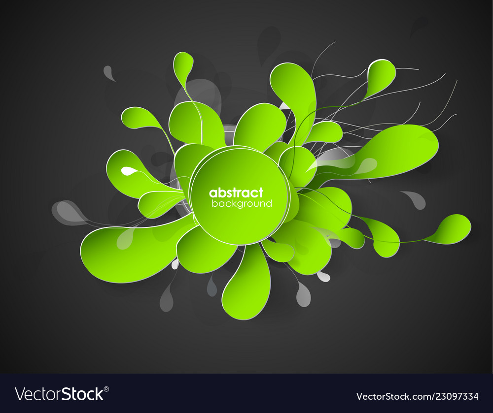 Abstract flower background with circles