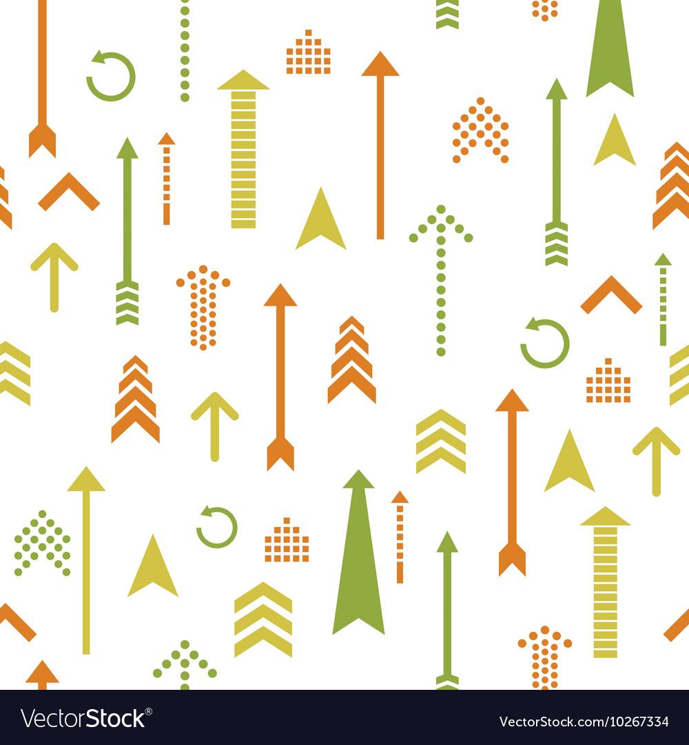 Arrows seamless pattern retro style