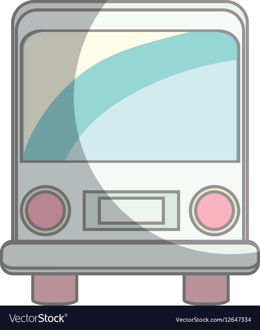 Bus vehicle isolated icon