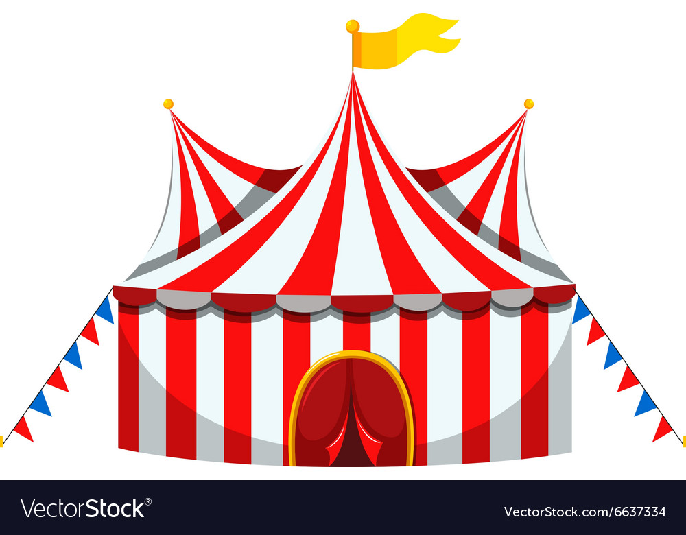 classic fit d816c 3c506 Circus tent in red and white striped