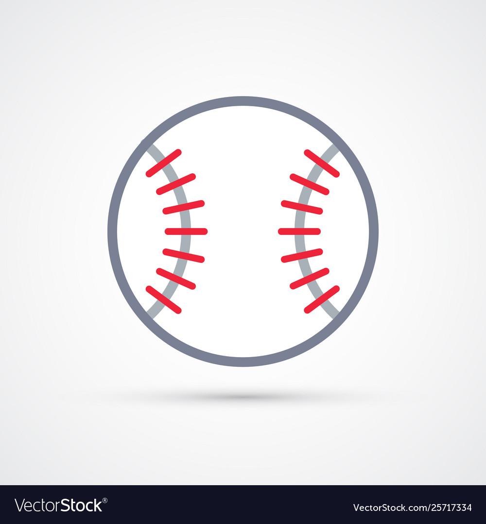 Colored baseball ball symbol