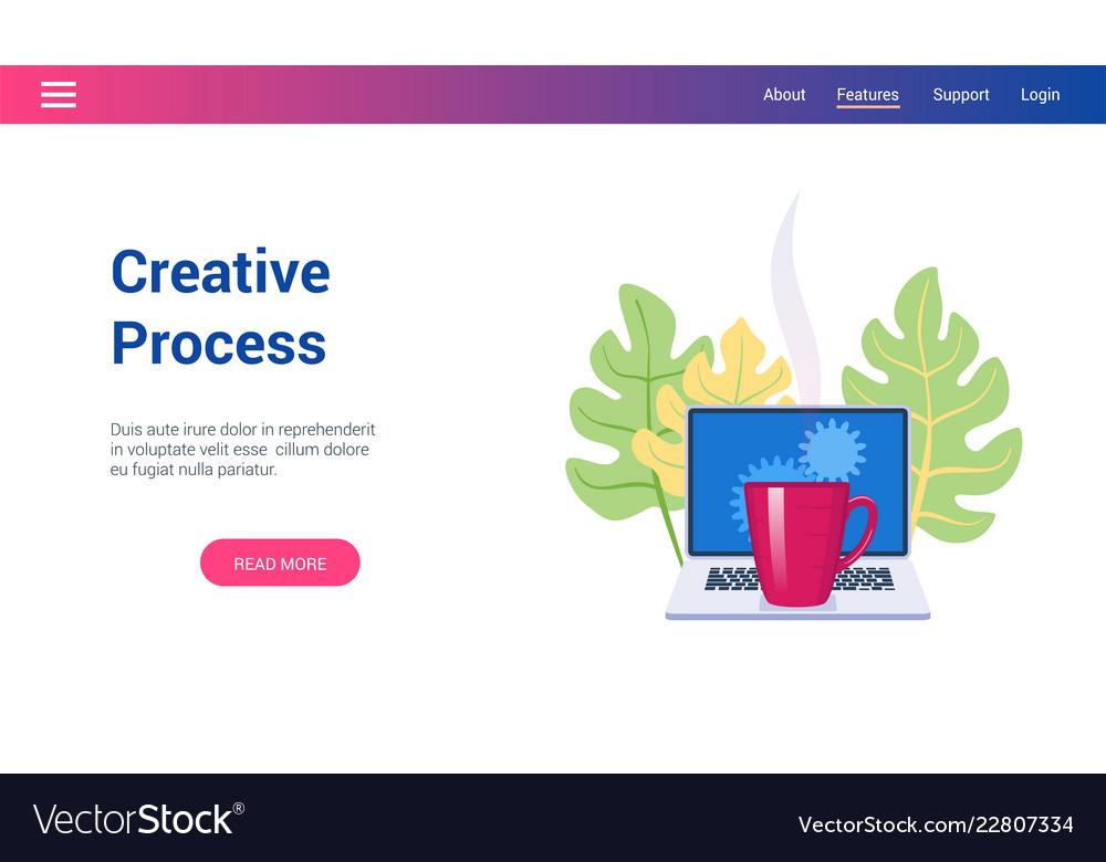 Concept on creative process theme