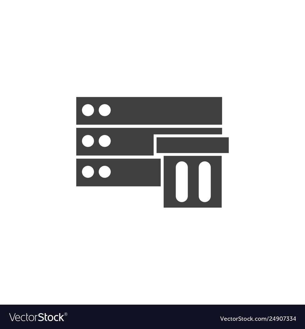 Database server storage icon element of