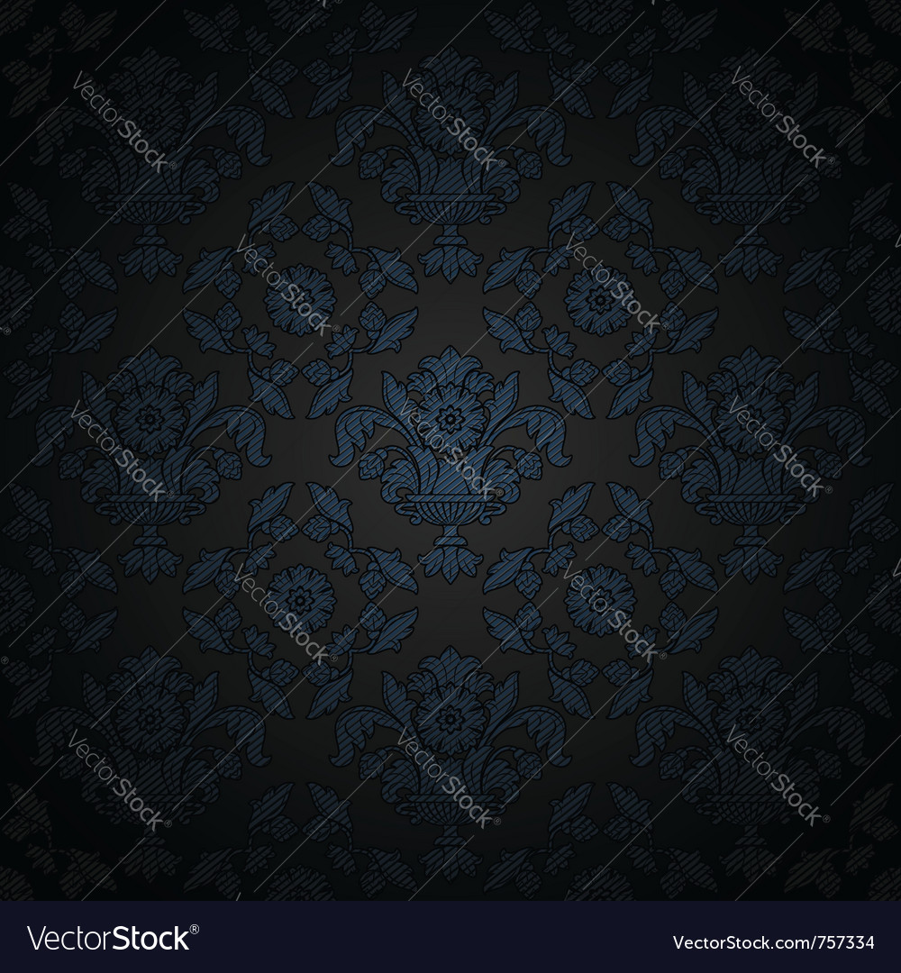 Floral filigree texture vector image on VectorStock