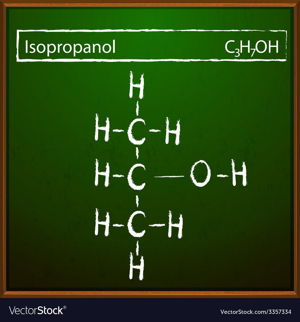 Isopropanol molecules