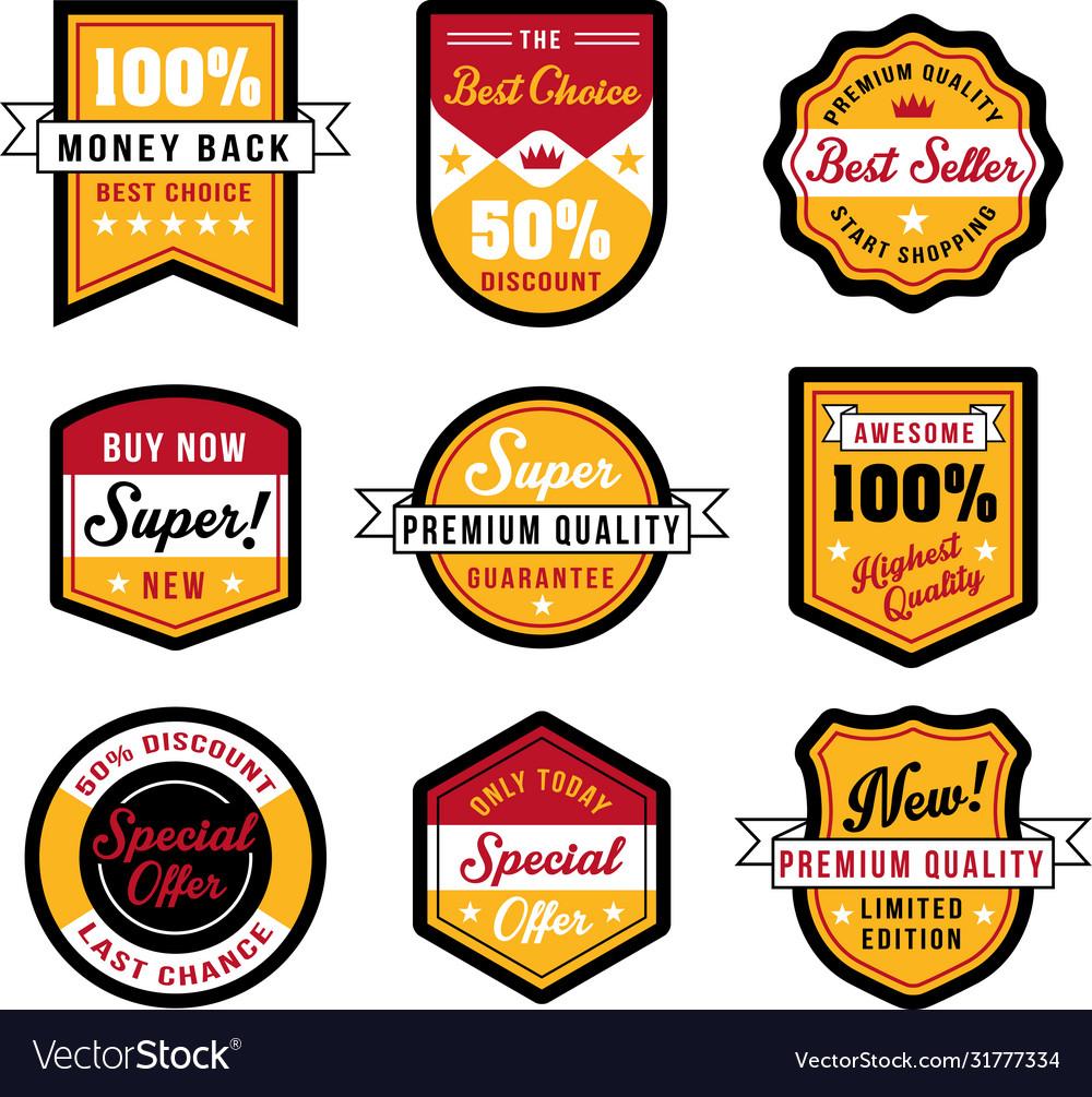 Set vintage badges and labels