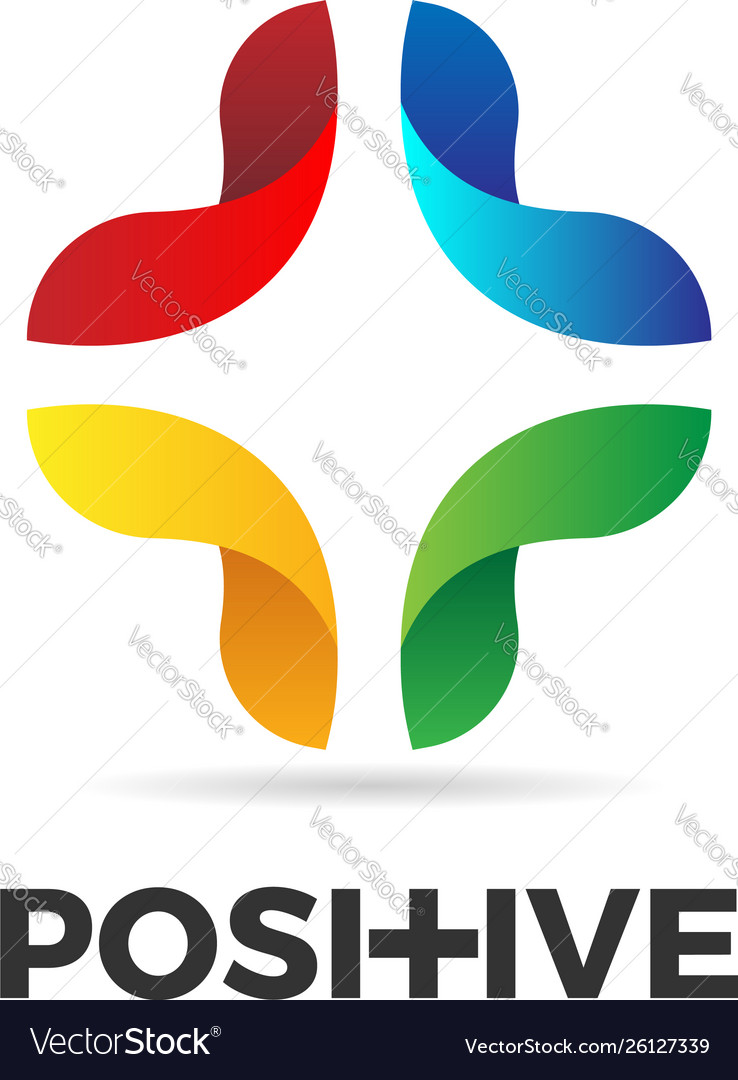 Abstract colorful positive logo sign symbol icon