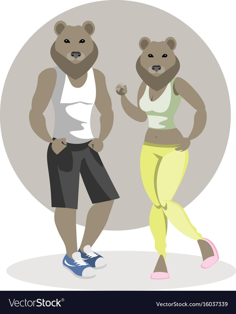 Bears man and woman