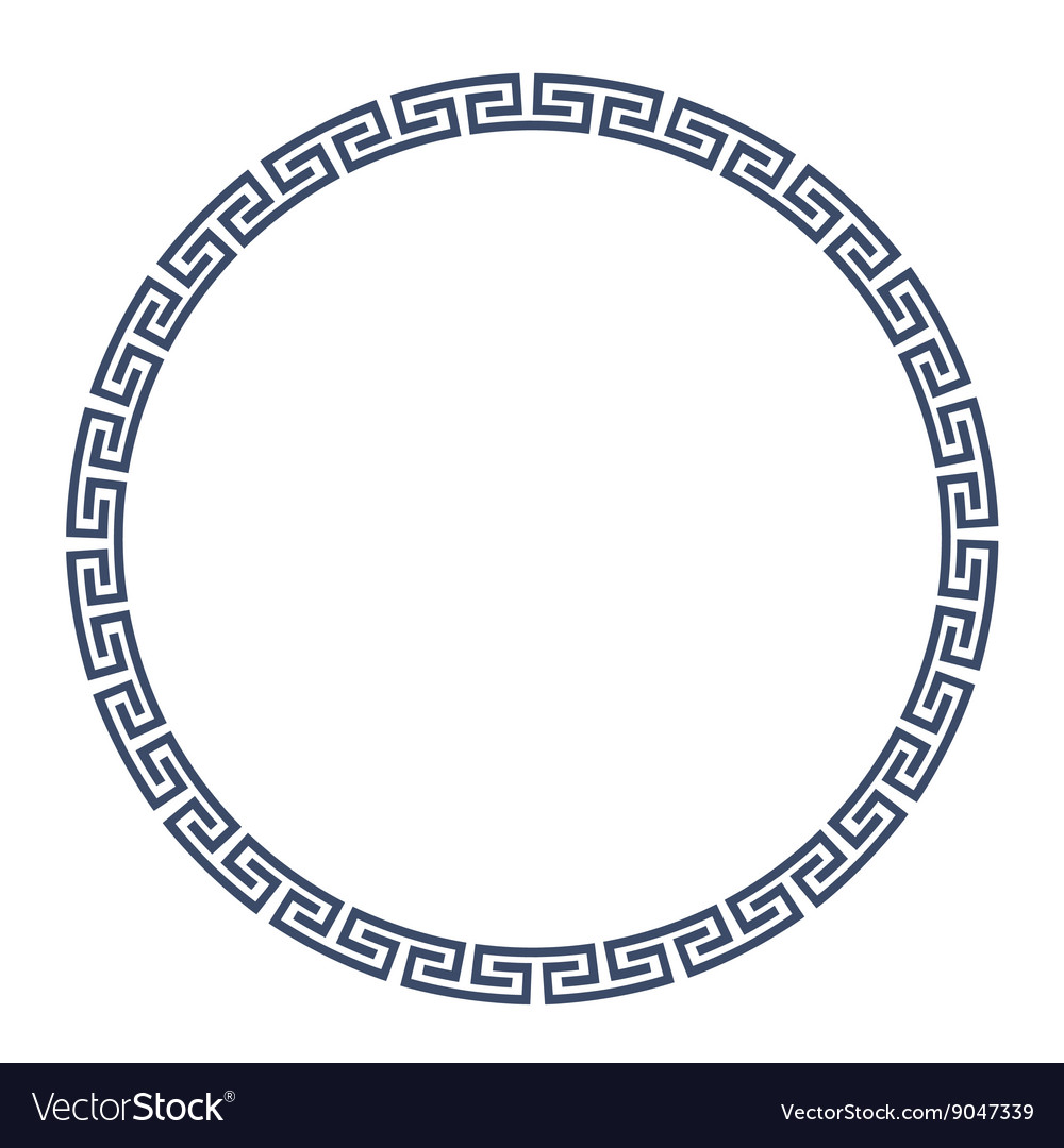 Greeke round frame for design