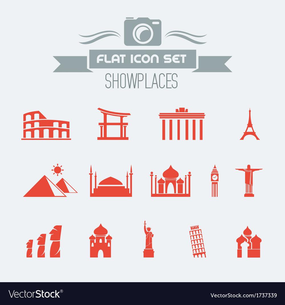Landmarks Flat Icon Set