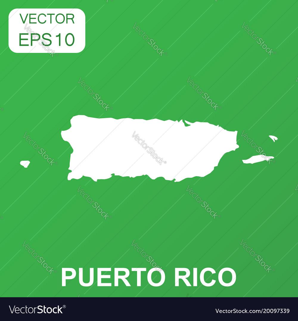 Puerto rico map icon business concept puerto rico