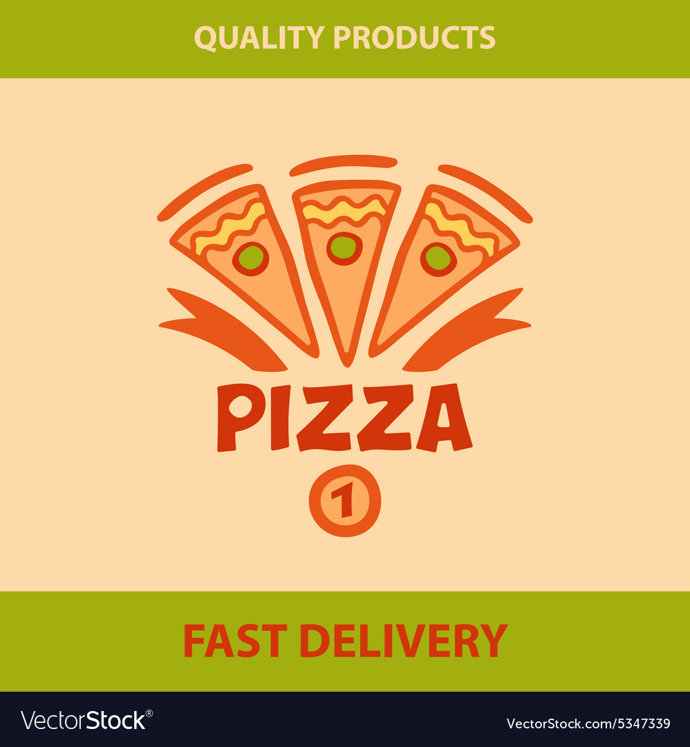Template logo pizza pizzeria vector image