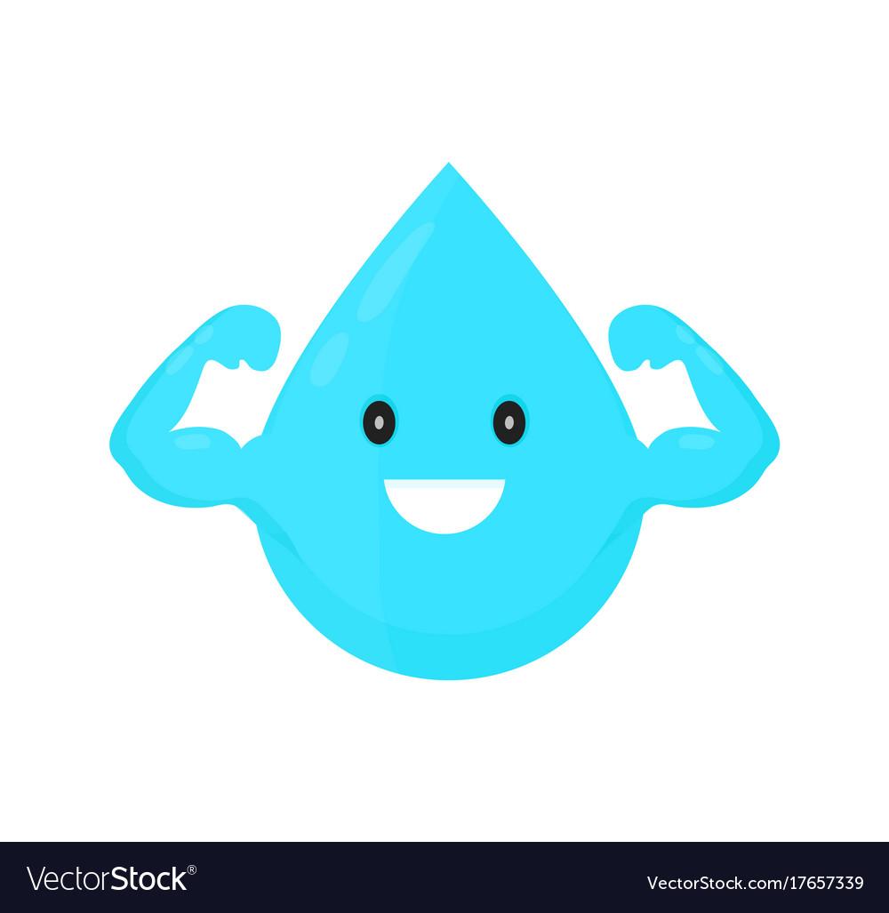 Water drop modern style cartoon