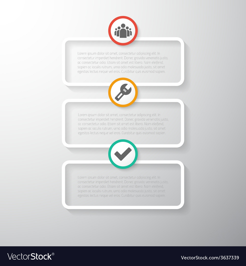 Web Infographic Timeline Template Layout With