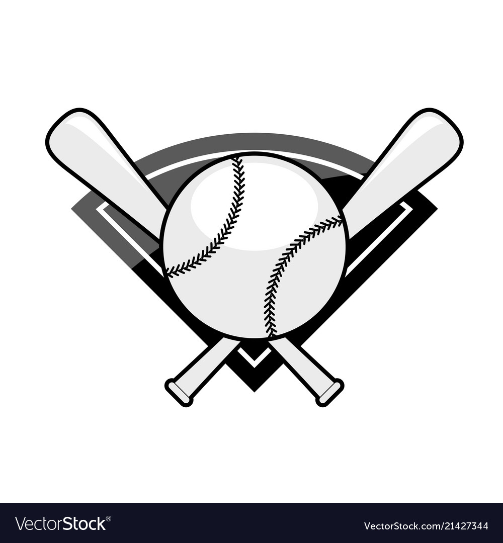 Clipart Baseball Bat And Ball Logo 1 - Royalty Free Vector ...  |Baseball Bat And Ball Vector