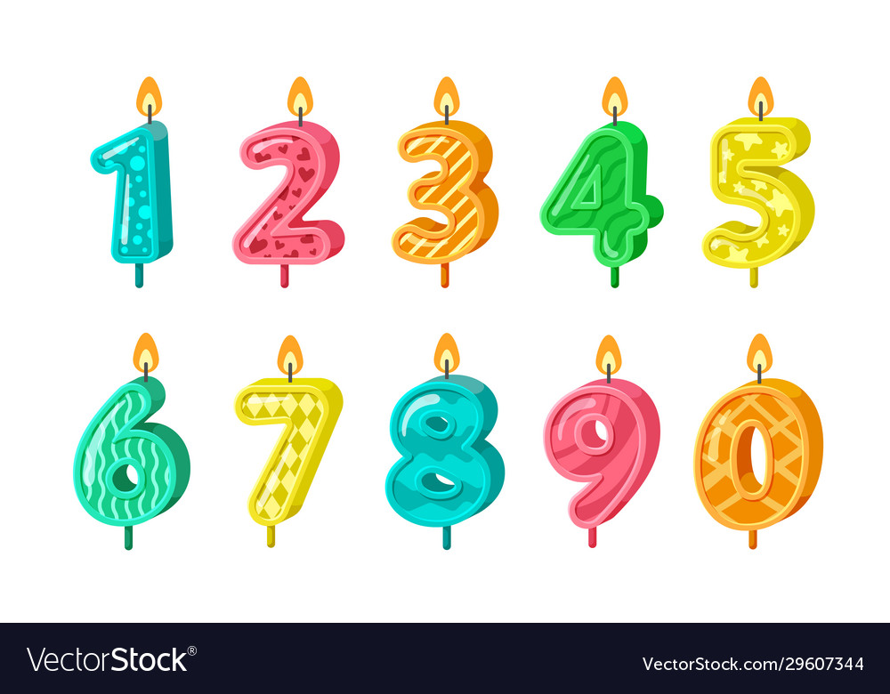 Birthday numbers anniversary decorative candles