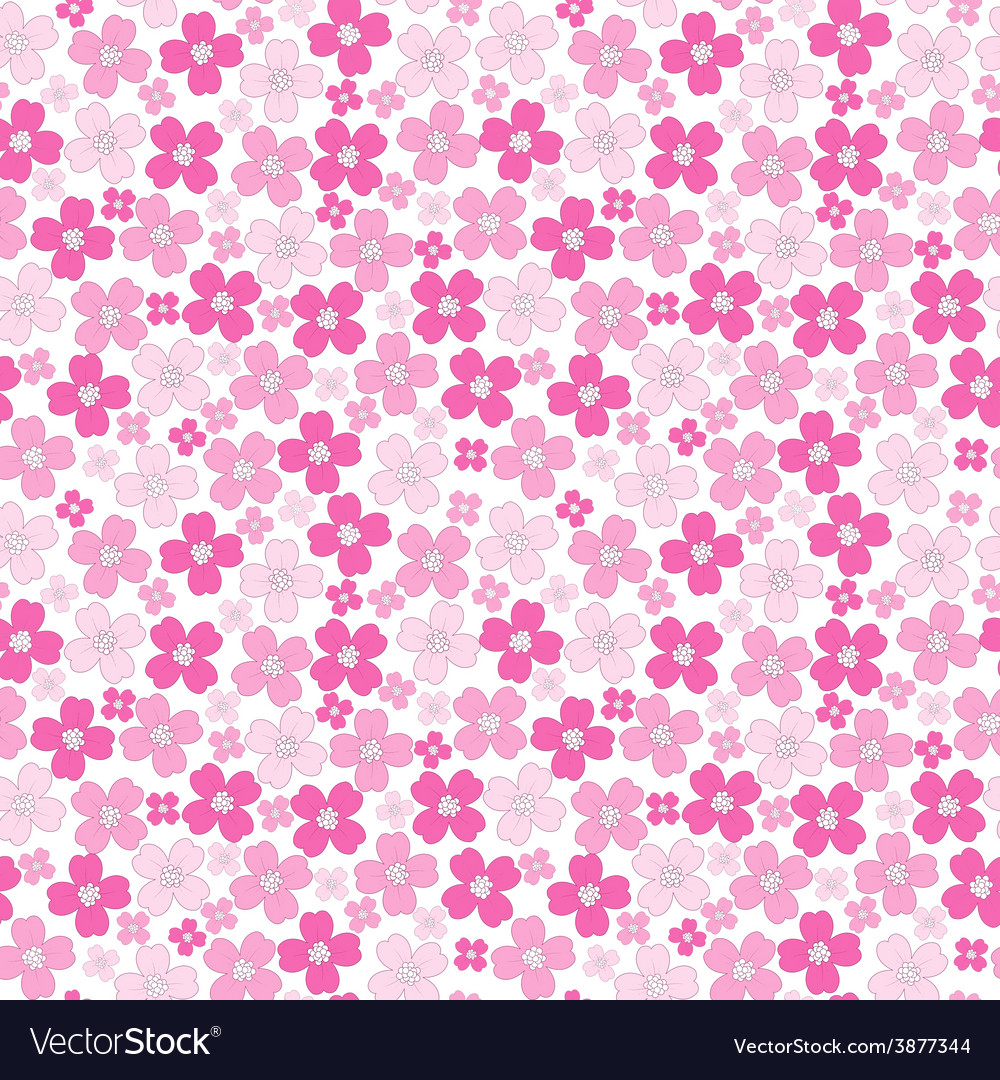 floral baby girl seamless background pattern vector image