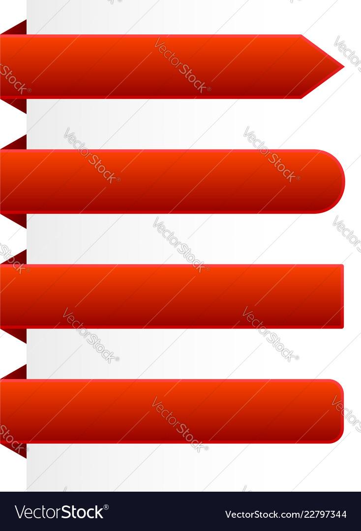 horizontal banner shapes royalty free vector image