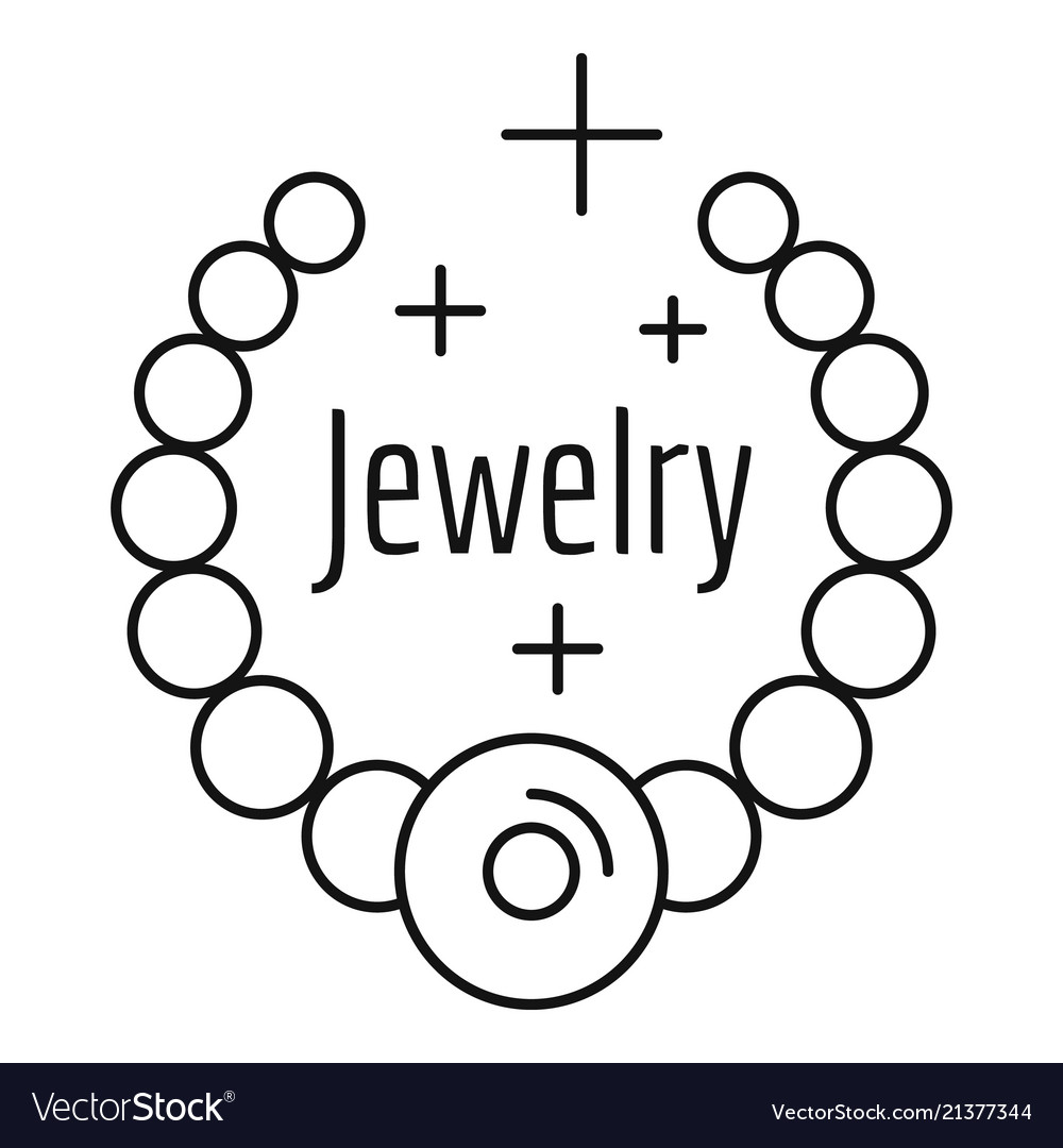 Jewelry logo outline style
