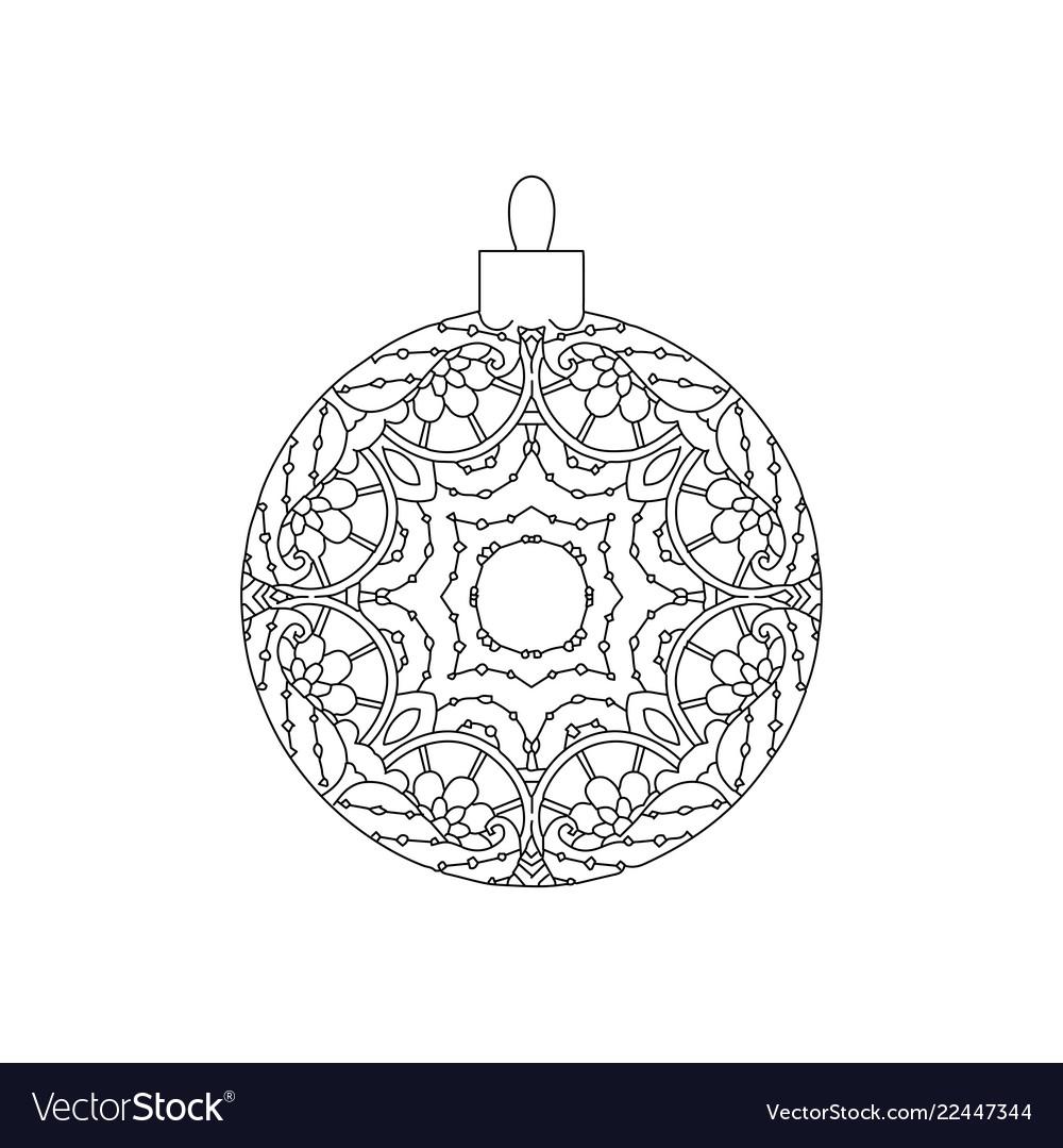 New year tree ball ornament