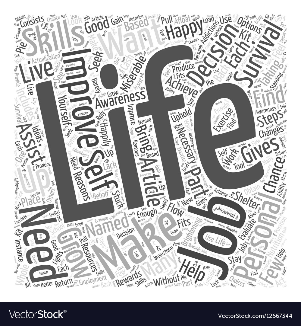 Personal Life Improving to Grow Word Cloud Concept