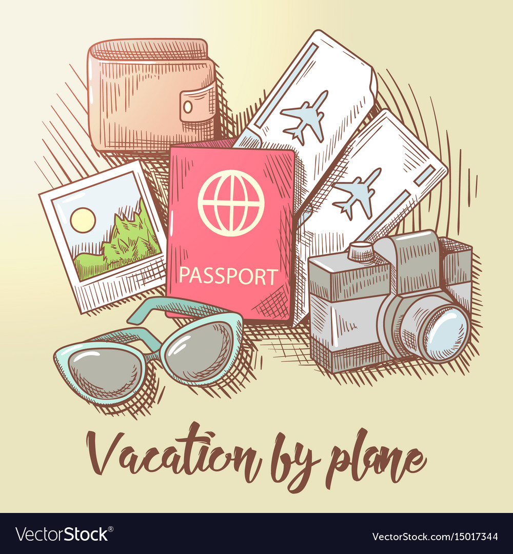 Vacation by plane travel around the world