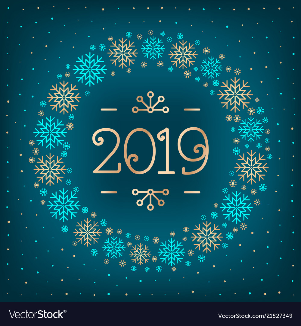Christmas Graphics 2019.2019 Text Christmas Card Happy New Year Holiday
