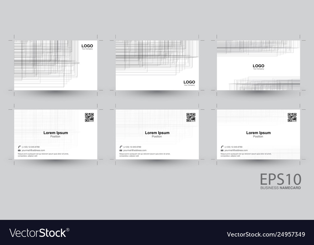 Abstract line gray color background namecard
