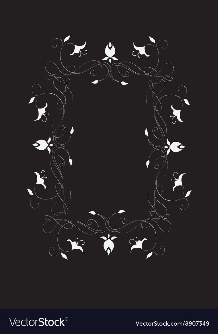 Abstract romantic frame vector image