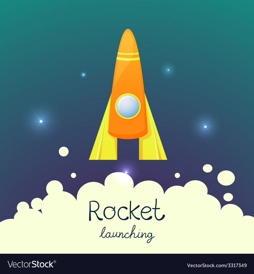 Cartoon rocket 3D set vector image on VectorStock